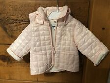 Baby Girls 0-3 Months Mignolo Boutique Designer Jacket Quilted Pink Hooded