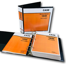 Case 1840 Uni Loader Skid Steer Service Repair Schematics Manual Shop Book Set