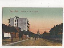 Port Said Rue De La Cie du Canal Egypt Vintage Postcard 383b