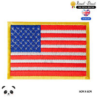 USA National Flag Embroidered Iron On Sew On Patch Badge For Clothes