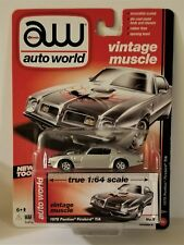2015 AW Auto World Vintage Muscle 1975 Pontiac Firebird T/A Silver 1:64 Scale S4
