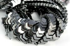 8x5MM Black Hematite Arrow Grade AAA Natural Gemstone Loose Beads 7.5