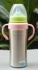 Mabo Love Stainless Steel Baby Bottle - 260ml - Red
