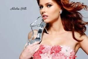 ALISHA HILL Prom Bridal Bridesmaid Heels Silver Rhinestone Shoe Designer $99 NEW