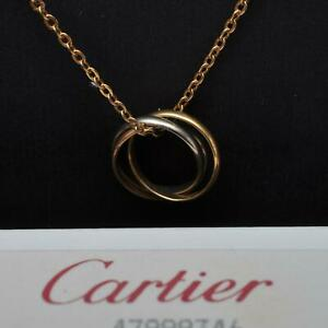 Cartier Trinity Collier Halskette mit Anhänger, 18 Karat / 750er Gold, Klassiker