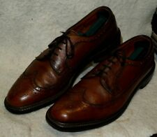 Vintage Wright Wingtip Oxford Dress Shoes Leather Soles Mens 10 B Union Made USA