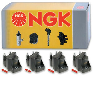 4 pcs NGK Ignition Coil for 1993 Cadillac Allante 4.6L V8 - Spark Plug Tune jz