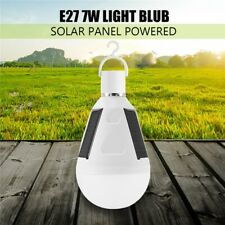 LED Solar Light Bulb 7W E27 Tent Outdoor Camping Fishing Solar Lamp Rechargeable