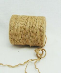 400' Premium Jute Twine String, All-Natural, 3-ply Cord Rope for Craft & DIY