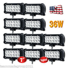 "10x 7INCH 36W LED Work Light Bar CREE Spot Beam OffRoad Driving ATV VS 9"" Flood"