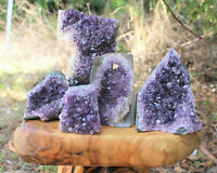 Clearance Amethyst Cut Base Crystal Geodes - Natural Quartz Cluster Specimens