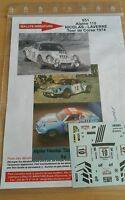 DECALS 1/18 REF 651 ALPINE RENAULT A110 NICOLAS TOUR DE CORSE 1974 RALLYE RALLY