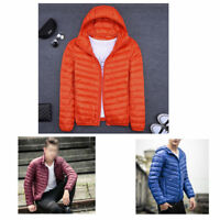 Winter Mens Down Padded Jacket quilted hooded warm light Coat Outwear Plus size