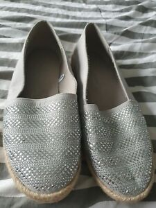 TU Sparkly Flat Shoes Size 6