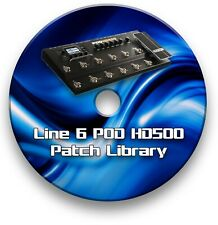 More details for line 6 hd500 guitar effects pedals - sounds tone patches library 4,500+ cd