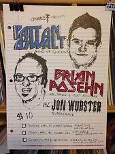 Patton Oswalt Brian Posehn 2005 Concert Poster by Bilheimer Edn of 85
