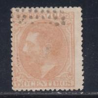 ESPAÑA (1879) USADO SPAIN - EDIFIL 206 (50 cts) ALFONSO XII - LOTE 1