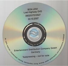 BON JOVI lost highway DVD PROMO test pressing