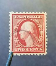 U.S Scott #519. USED. 1917 2c Washington, carmine, perf 11. RARE Stamp.