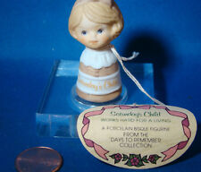 "Enesco Saturday's Child Thimble FROM THE DAYS TO REMEMBER COLLECTION 1 3/4"" @6"