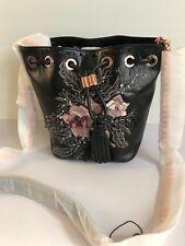 Mimco Endure mini Pouch Across body Hand Bag BNWT Black Rosegold RRP $349