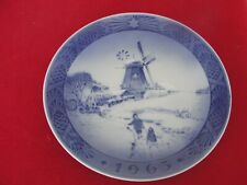 1963 ROYAL COPENHAGEN CHRISTMAS  OLD PLATE WINDMILL