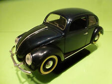 SOLIDO  VW VOLKSWAGEN KAFER BEETLE - OVAL 1949- DARK BLUE 1:17 - GOOD ON STAND