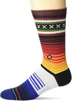 Stance Mens 248418 Curren St Red Seamless Toe Crew Socks Size M