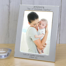Personalised Silver Plated Any Message  Mummy Our 1st Christmas Together