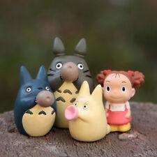 4Pcs Set My neighbor totoro Cat Girl Figure Fairy Garden Toys Decoration Display