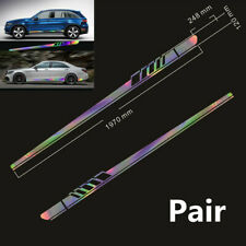 2Pc Laser Reflective Car Body Both Side Graphics Vinyl Long Stripe Decal Sticker