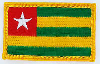 TOGO TOGOLESE FLAG PATCHES backpack  PATCH BADGE IRON ON NEW EMBROIDERED