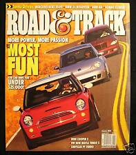 ROAD & TRACK Magazine January 2003 Mercedes Benz E500