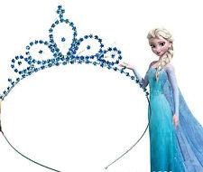 Girls Kid blue Metal Princess Crystal Frozen Elsa Head Hair Tiara Crown headband