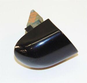 DOOR HANDLE LOCK CAP TRIM BEZEL RIGHT FRONT REAR BLACK BMW E46 M3 325 330