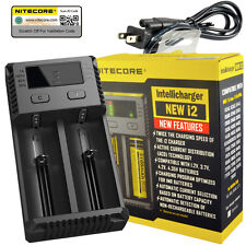 NITECORE New i2 2017 Intellicharger Li-ion Ni-MH Smart Charger 2 Slot 18650
