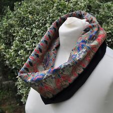 Cowl/Snood/neck warmer in Liberty tana lawn Ianthe red & navy velvet