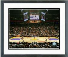 """Los Angeles Lakers Staples Center NBA Game Photo (Size: 12.5"""" x 15.5"""") Framed"""