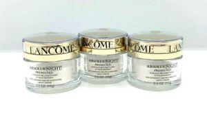 Lot of 3 Lancome Absolue Night Premium Night Cream ~ .5 oz x 3 ~