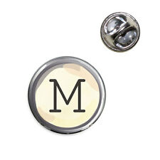 Letter M Typewriter Key Lapel Hat Tie Pin Tack