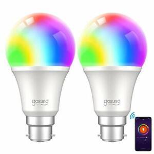 Smart Bulb, Gosund Alexa Light Bulbs 800Lm B22 75W Dimmable Wi-Fi RGB Color