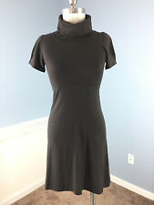 THEORY Brown S P Sweater Dress Wool Blend Stretch Knit Career Cocktail