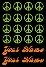 Bike Frame Name Peace Sign Decal Set Stickers Custom