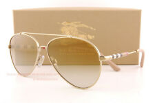 612ea277186 Brand New Burberry Sunglasses BE 3092Q 1145 6E Gold Brown Mirror Gold Men  Women