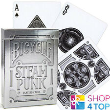 BICYCLE SILVER STEAMPUNK PLAYING CARDS DECK BY THEORY 11 MADE IN USA USPCC NEW
