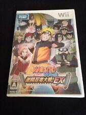 Naruto Shippuuden Gekitou Ninja Taisen EX Japan Import Nintendo Wii New Sealed