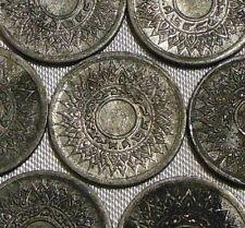 One 1942 WW2 THAI NUMERALS Thailand 1 Satang Chakra Tin Coin BE2485 WWII Grade C