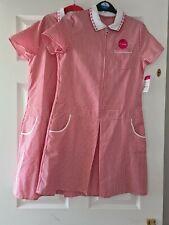 Girls red gingham summer school dress 12-13  bnwt no packing