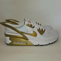 Nike Air Max 90 Flyease White Metallic Gold CU0814-100 Men's Size 11