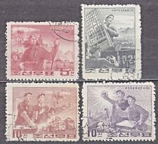 KOREA 1963 used SC#491/94 set, Seven Year Plan.
